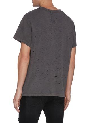 Back View - Click To Enlarge - AMIRI - Shotgun perforated T-shirt