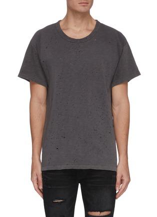 Main View - Click To Enlarge - AMIRI - Shotgun perforated T-shirt