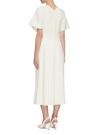 Back View - Click To Enlarge - VICTORIA BECKHAM - Batwing midi dress