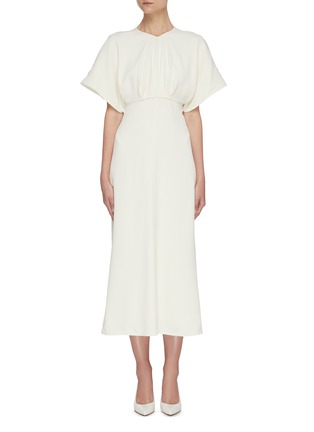 Main View - Click To Enlarge - VICTORIA BECKHAM - Batwing midi dress
