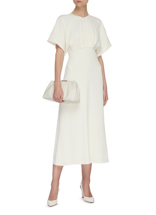 Figure View - Click To Enlarge - VICTORIA BECKHAM - Batwing midi dress