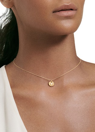 Detail View - Click To Enlarge - DAVID YURMAN - Initial T' cable collectible diamond 18k gold necklace