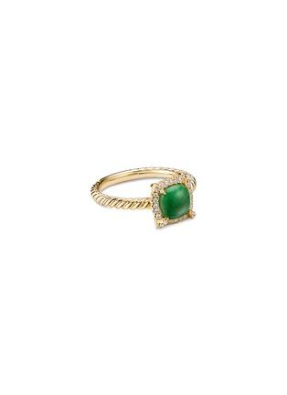 Main View - Click To Enlarge - DAVID YURMAN - Petite Chatelaine' diamond jadeite 18k gold bezel ring