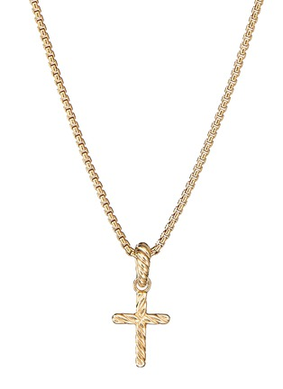 Detail View - Click To Enlarge - DAVID YURMAN - 'Cable Collectible' Diamond 18k gold cross enhancer