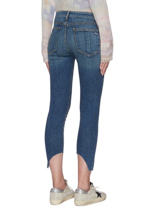Back View - Click To Enlarge - RAG & BONE/JEAN - 'Cate' asymmetric raw hem crop skinny jeans