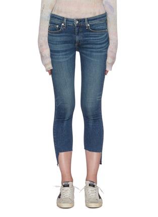 Main View - Click To Enlarge - RAG & BONE/JEAN - 'Cate' asymmetric raw hem crop skinny jeans