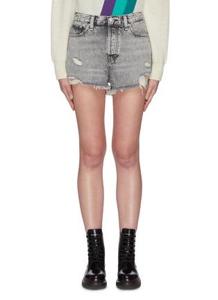 Main View - Click To Enlarge - RAG & BONE/JEAN - 'Maya' distressed denim shorts
