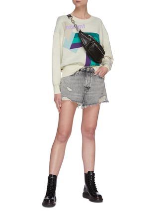 Figure View - Click To Enlarge - RAG & BONE/JEAN - 'Maya' distressed denim shorts