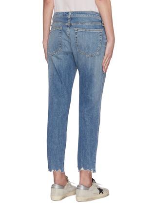 Back View - Click To Enlarge - RAG & BONE/JEAN - 'Dre' distressed knee slim boyfriend jeans
