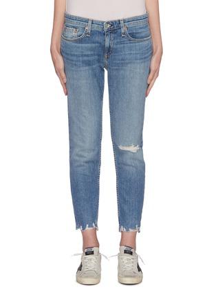 Main View - Click To Enlarge - RAG & BONE/JEAN - 'Dre' distressed knee slim boyfriend jeans