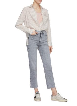 Figure View - Click To Enlarge - RAG & BONE/JEAN - Nina grey wash ankle cigarette jeans