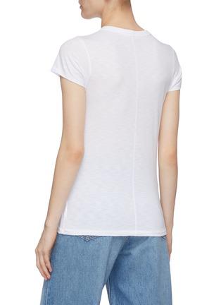 Back View - Click To Enlarge - RAG & BONE/JEAN - Triple palm tree print crewneck cotton T-shirt