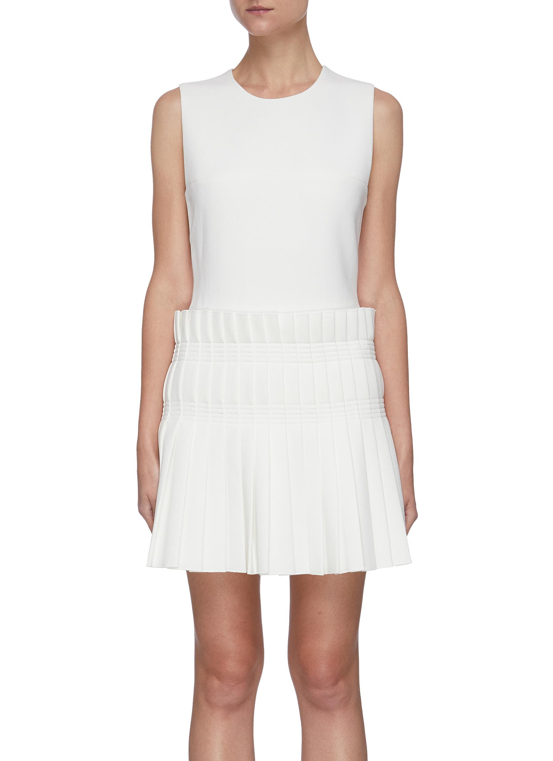 Dion Lee PLEAT SKIRT SLEEVELESS MINI DRESS