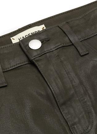 - L'AGENCE - 'Margot' High Rise Crop Coated Denim Skinny Jeans
