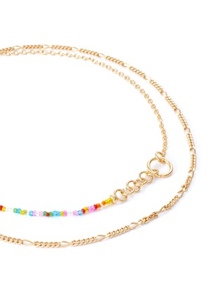 Detail View - Click To Enlarge - GAVIRIA - Friendship crystal 18k gold plated necklace