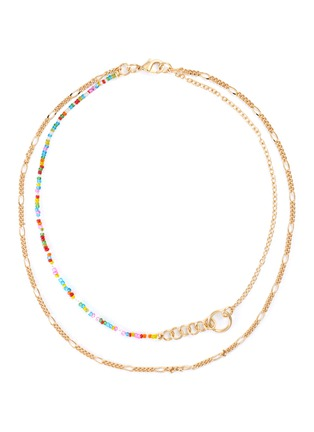 Main View - Click To Enlarge - GAVIRIA - Friendship crystal 18k gold plated necklace
