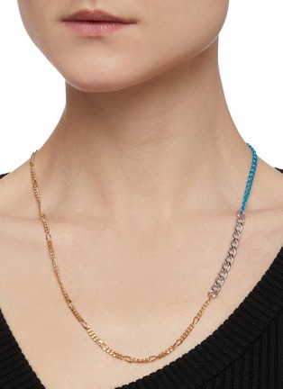 Figure View - Click To Enlarge - GAVIRIA - Disco 18k gold plated brass chain necklace