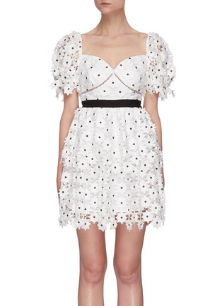Main View - Click To Enlarge - SELF-PORTRAIT - Daisy lace mini dress