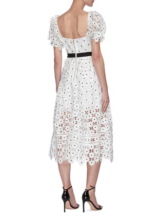 Back View - Click To Enlarge - SELF-PORTRAIT - Daisy lace midi dress