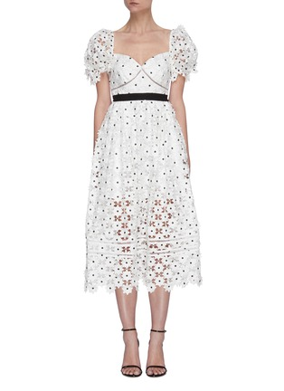 Main View - Click To Enlarge - SELF-PORTRAIT - Daisy lace midi dress