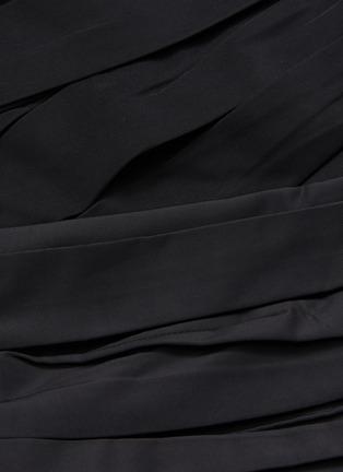 - SELF-PORTRAIT - Off shoulder balloon sleeve taffeta wrap top