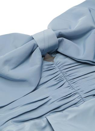 - SELF-PORTRAIT - Balloon sleeve taffeta bow top