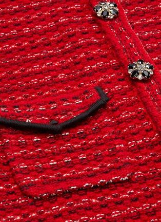 - SELF-PORTRAIT - Floral diamante button mélange wool knit dress