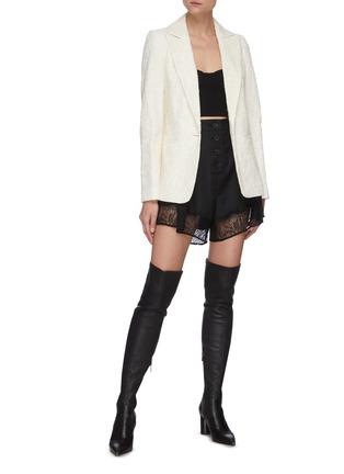 Figure View - Click To Enlarge - SELF-PORTRAIT - Fine corded lace blazer