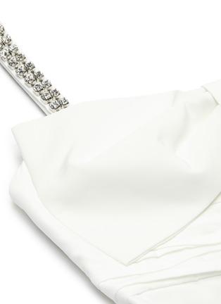 - SELF-PORTRAIT - Bow taffeta sleeveless mini dress