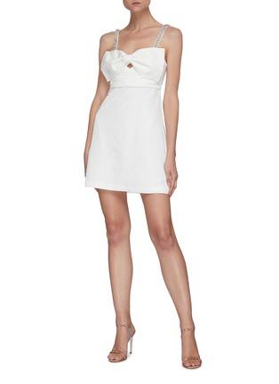 Figure View - Click To Enlarge - SELF-PORTRAIT - Bow taffeta sleeveless mini dress