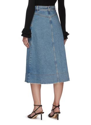 Back View - Click To Enlarge - PHILOSOPHY DI LORENZO SERAFINI - Side pocket midi denim skirt