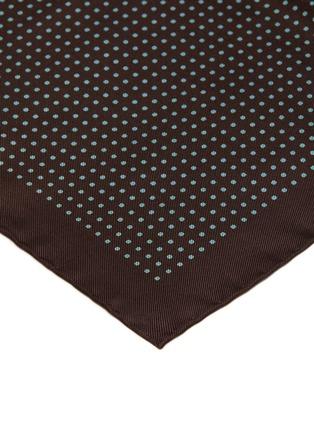 Detail View - Click To Enlarge - STEFANOBIGI MILANO - Polka dot silk pocket square