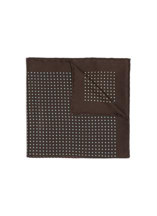 Main View - Click To Enlarge - STEFANOBIGI MILANO - Polka dot silk pocket square