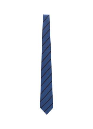 Figure View - Click To Enlarge - STEFANOBIGI MILANO - Stripe silk wool blend tie