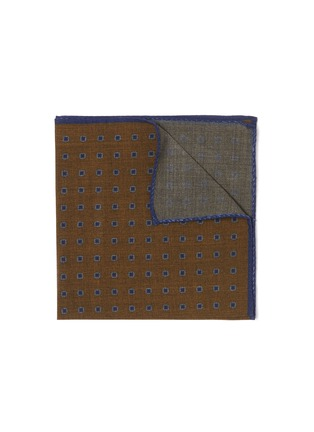 Main View - Click To Enlarge - STEFANOBIGI MILANO - Square embroidered wool pocket square