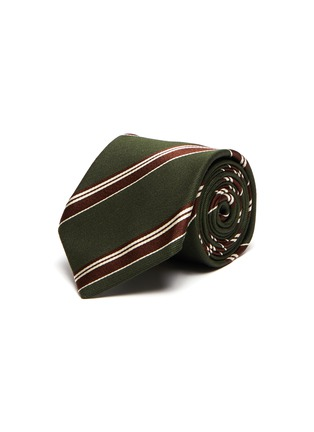 Main View - Click To Enlarge - STEFANOBIGI MILANO - Stripe silk wool blend tie