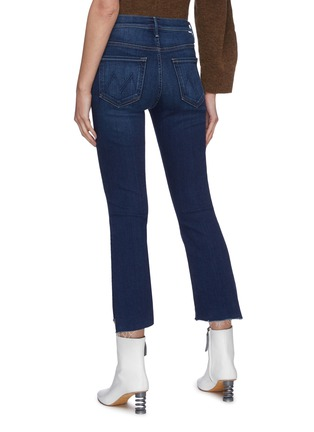Back View - Click To Enlarge - MOTHER - 'The Insider' frayed hem crop jeans