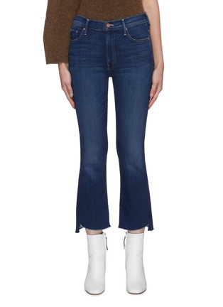 Main View - Click To Enlarge - MOTHER - 'The Insider' frayed hem crop jeans