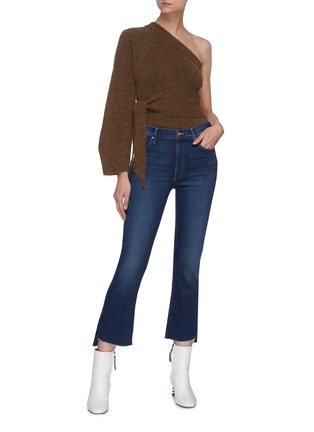 Figure View - Click To Enlarge - MOTHER - 'The Insider' frayed hem crop jeans