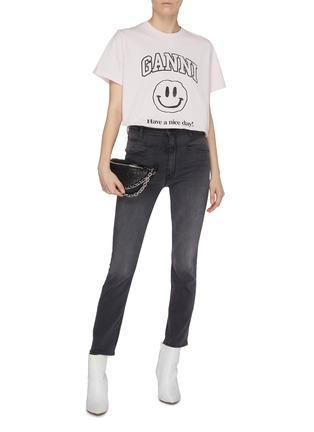 Figure View - Click To Enlarge - MOTHER - 'The Dazzler' yoke front seam skinny jeans