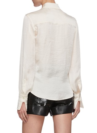 Back View - Click To Enlarge - PHILOSOPHY DI LORENZO SERAFINI - Pleated front blouse