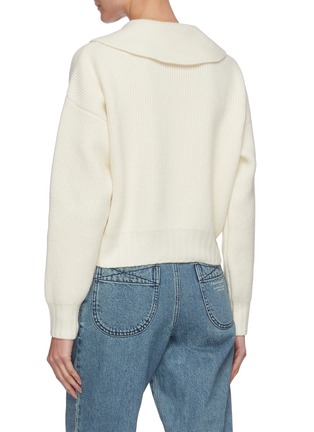 Back View - Click To Enlarge - PHILOSOPHY DI LORENZO SERAFINI - Tie-up neck collar sweater