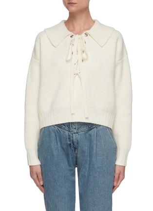 Main View - Click To Enlarge - PHILOSOPHY DI LORENZO SERAFINI - Tie-up neck collar sweater