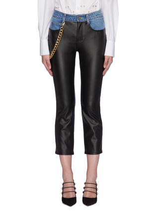 Main View - Click To Enlarge - HELLESSY - 'Melling' chain embellished panel jeans