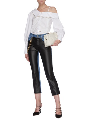 Figure View - Click To Enlarge - HELLESSY - 'Melling' chain embellished panel jeans