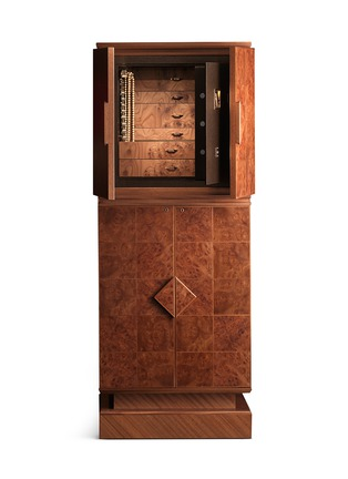 Main View - Click To Enlarge - Agresti - Elm Briar wood basic armoire with safe