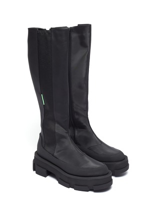 Detail View - Click To Enlarge - BOTH - Gao' chunky sole stretch leather knee high boots