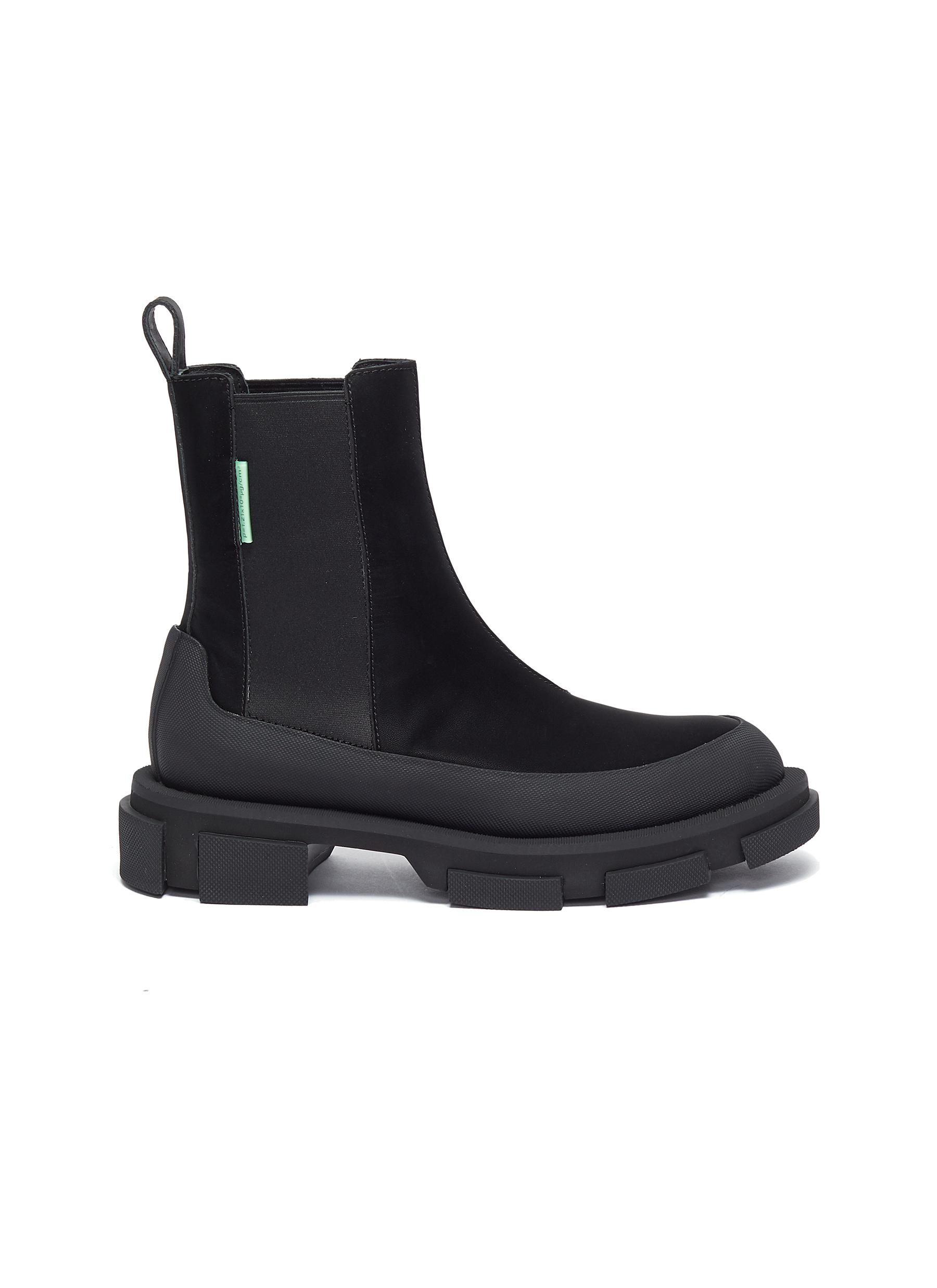 Gao' chunky sole leather chelsea boots