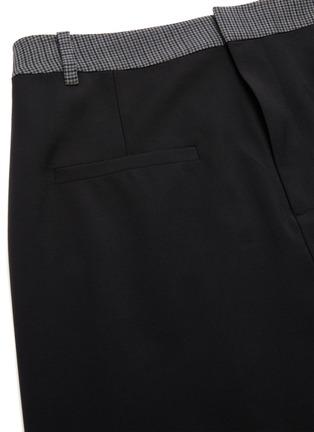 - TIBI - 'Auguste' houndstooth flap midi skirt