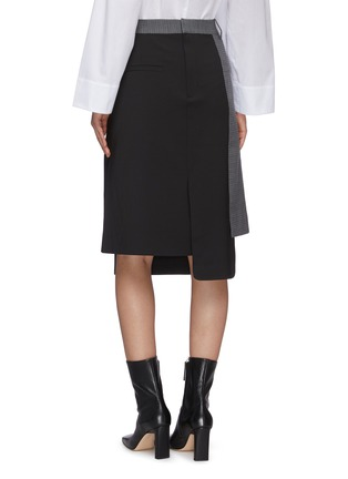 Back View - Click To Enlarge - TIBI - 'Auguste' houndstooth flap midi skirt